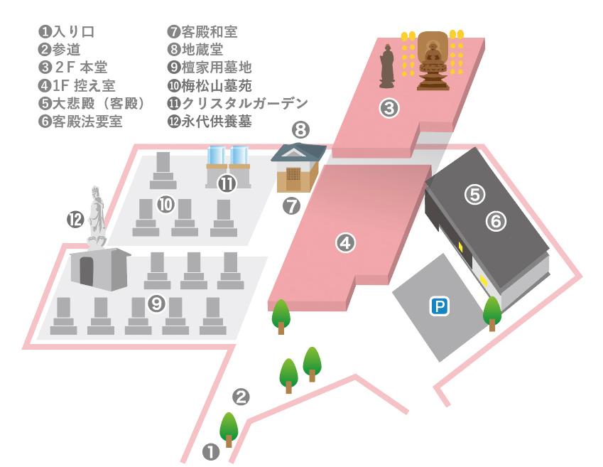 ◆ 境内マップ